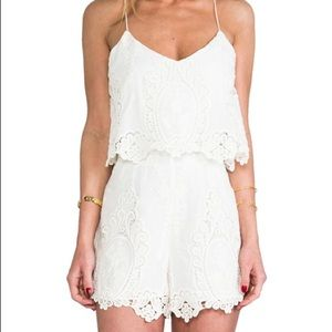 Necessary Clothing White Embroidered Romper